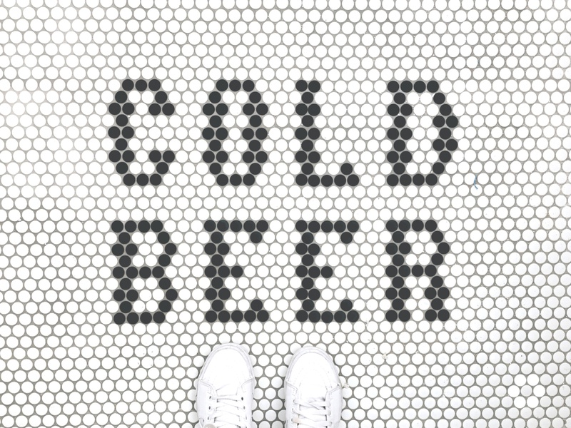 Tile signage signage brewery beer type typograhy tile