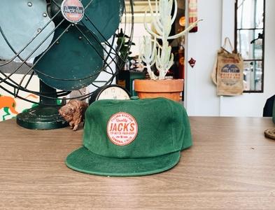 Jack's Filling Station - Hat logo apparel hat patch design california retro beer
