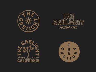 The Gaslight - Branding nicola broderick the gaslight joshua tree airbnb branding logo desert california retro