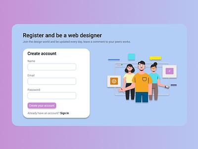 Daily UI 082 - Form register 082 form web ui ux design dailyuichallenge daily 100 challenge