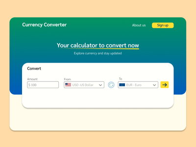 Challenge 107 - Currency Converter currency converter currency converter 107 ui ux design dailyuichallenge daily 100 challenge
