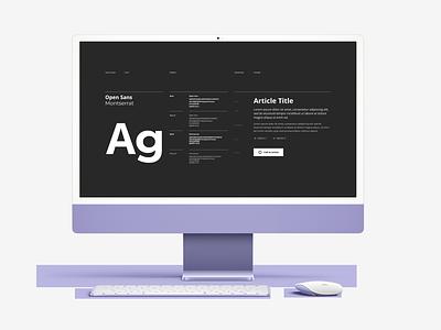 Challenge 115 - Fonts fonts web ui ux 115 design dailyuichallenge daily 100 challenge