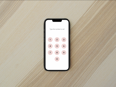 Challenge 117 - Dial Pad pad dial numbers iphone ios 117 type call dial pad apple web ux design dailyuichallenge daily 100 challenge