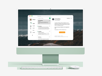 Challenge 119 - Email Application assignment dribbble ux academy inbox draft send application 119 email application email apple ios mac app web ui ux design dailyuichallenge daily 100 challenge