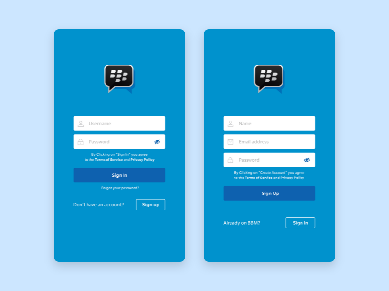 bbm login screen by Aria Kepo on Dribbble