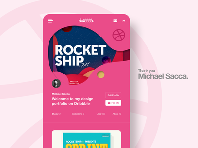 Thank you Michael Sacca new illustrator dribbble invitation dribbble invite dribbble michaeal web uxui design ui ux app