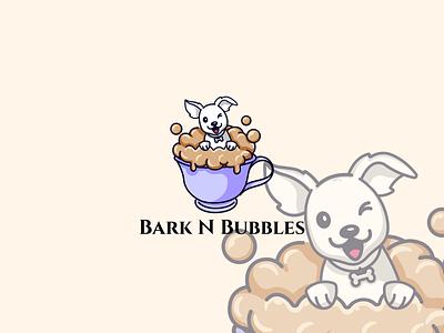 Logo for Bark N Bubbles vector logo design illustration dog illustration dog