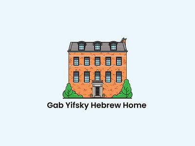 Logo Design for Gab Yifsky Hebrew Home logo illustration design home