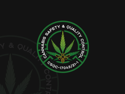 Logo Design for Cannabis Safety N Quality Control vector logo illustration design cannabis