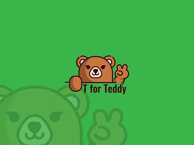 Logo Design for T for Teddy logo illustration design teddybear bear