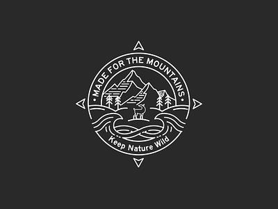 Logo Design line vector logo illustration design nature mountain