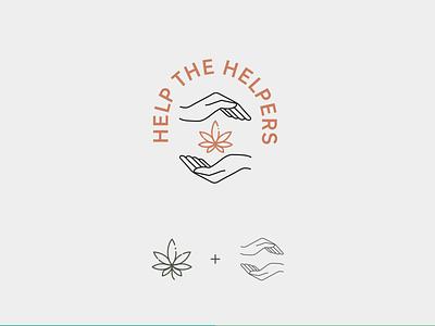 Logo Design for Help The Helpers vector logo illustration design cannabis