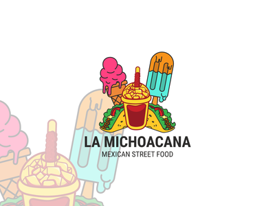 Logo Design for Mexican Street Food logo illustration design taco bubble tea ice cream mexican