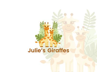 Logo Design for Julie's Giraffes logo illustration design toy giraffe