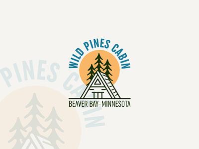 Logo Design vector logo illustration design jungle wood cabin