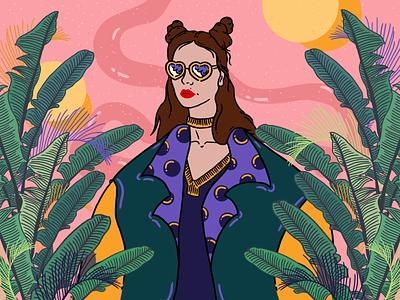 Character Design women in illustration women plant vector illustration design character character design