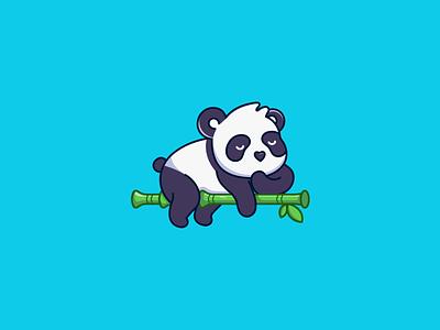 Sleeping Panda panda logo panda vector logo illustration design