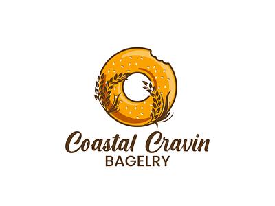 Logo Design for Bagel Shop bagel bakery logo vector illustration design