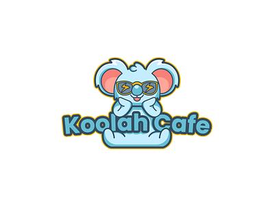 Logo Design for Koolah Cafe koala logo koala vector logo illustration design