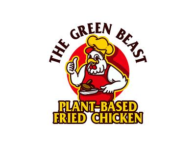 Logo Design for The Green Beast vector logo illustration design chicken logo chicken chick