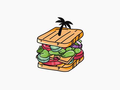 Sandwich isle logo isle logo island logo isle island sandwich logo sandwich logo design graphic design vector logo illustration design