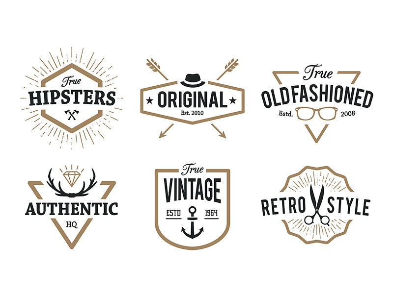 hipster emblems by vecster dribbble dribbble