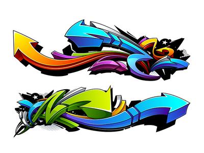 Graffiti Abstract Arrows
