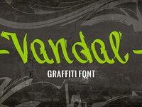 Vandal | Graffiti Font