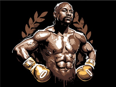 Floyd Mayweather tbe winner legend fighter boxing floyd mayweather graffiti portrait vector vecster