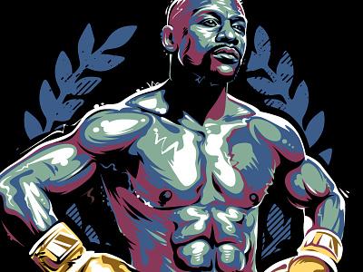 Floyd Mayweather 2 tbe winner legend fighter boxing floyd mayweather graffiti portrait vector vecster