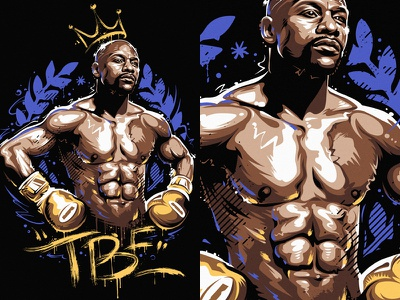 Floyd Mayweather 3 tbe winner legend fighter boxing floyd mayweather graffiti portrait vector vecster