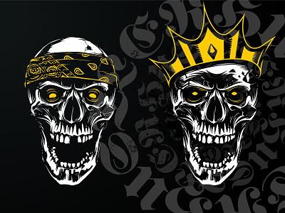 Hustler Skull Vector Art Sample vector illustration print hand drawn skull art vecster hustler vector skull
