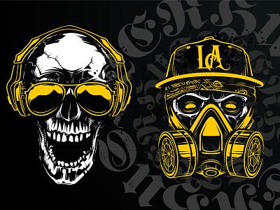 Hustler Skull Vector Art Sample 2 print tattoo street art vecster hustler skull art vector art