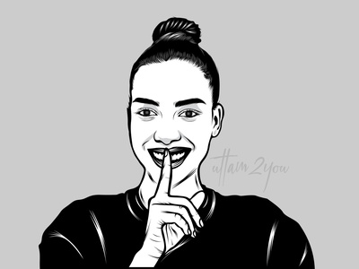 Black &  white Vector Portrait cartoons branding portraits vector illustration portrait illustration illustration vector art cartoon character portrait art cartoon vector