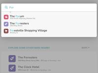 Places: search/explore