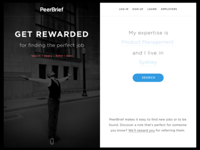 Get Rewarded – Landing page blue type gotham stock hero search homepage landing blackandwhite ui