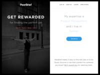 Get Rewarded – Landing page