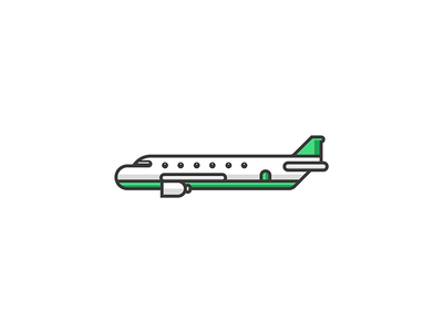 Plane vector illustration lines flat plane aeroplane sky airport airline doodle