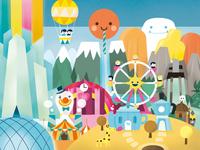 Rainbowland Cityscape