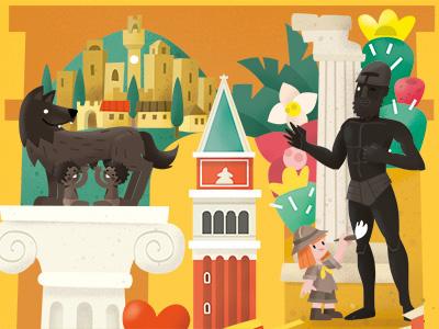 Calendar 2017 - Love your Treasures turism treasures culture kids italia beauty tuscany rome venice history landmarks italy
