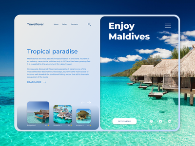 Travelfever - Travel & Trip Landing Page travel web design