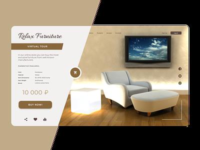 Relax Furniture - Landing Page ecommerce shopping cart shopping ui ux furniture design furniture travel branding web design