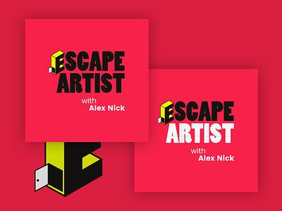 Escape Artist Podcast Cover Concept 4 escape artist album covers podcast logo podcast art podcasting escape room album cover podcast cover art bold podcast cover artost escape podcast