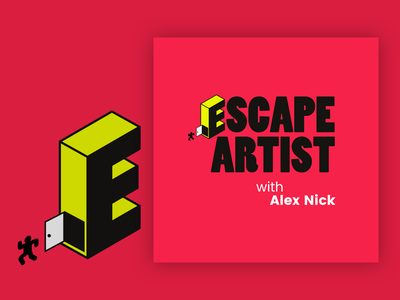 Escape Artist Podcast Cover Concept 5 album cover design album cover art album artwork album cover podcast cover art podcast cover podcast logo podcasting bold alex nick artist escape podcast
