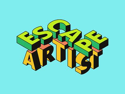 Escape Artist Podcast Cover Concept 6 album artwork album cover design album cover album art album podcast art podcast logo podcasting bold apple alex nick artist escape podcast
