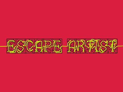 Escape Artist Podcast Cover Concept 10 typography illustration simple maze escape artist podcast logo album cover design album artwork album cover album album art podcasts podcast art podcasting podcast pod