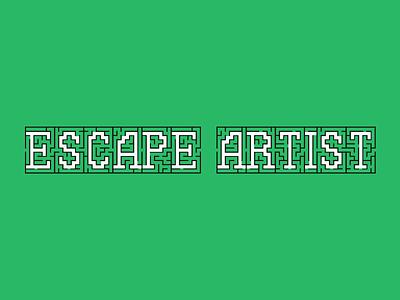 Escape Artist Podcast Cover Concept 11 flat branding bold green concept typography maze escape album cover design album artwork album cover album art album podcast logo podcast art podcasts podcasting podcast