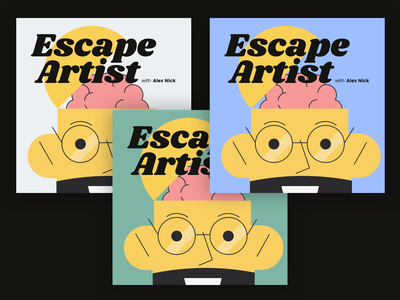 Escape Artist Podcast Cover Concept 20 illustration logo branding fun simple flat album cover design album artwork album cover album art album podcast logo podcast art podcasting podcasts podcast