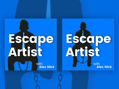 Escape Artist Podcast Cover Concept 21 illustration design simple album cover design album artwork album cover album art album shackled escape artist podcast logo podcasts podcast art podcasting podcast flat