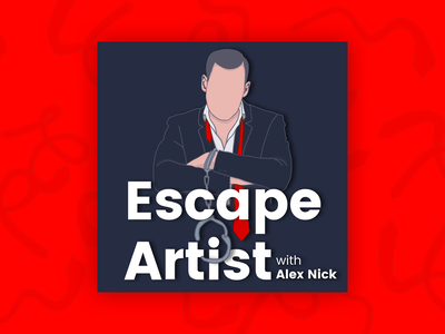 Escape Artist Podcast Final Cover album cover podcast art podcast logo podcasting podcast branding fun illustration simple flat